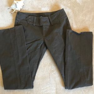 Brown GAP 100% Cotton Pants With Belt Front